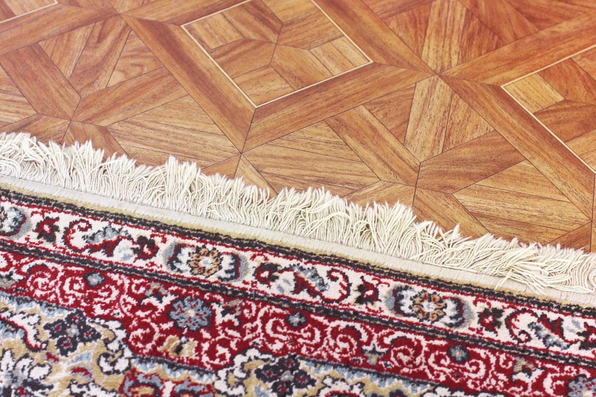 beautiful rug on the floor